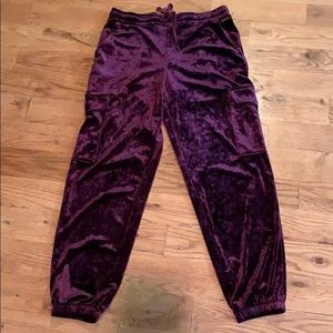 Betsey Johnson velour joggers